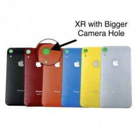 """iPhone XR - """"BIG HOLE"""" Bagside glas med logo og tekst"""