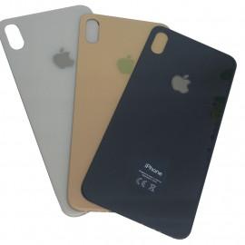 iPhone XS - Bagside glas med logo og tekst - Original