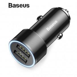 Biloplader - Baseus Small Screw Dual-USB 3.4A