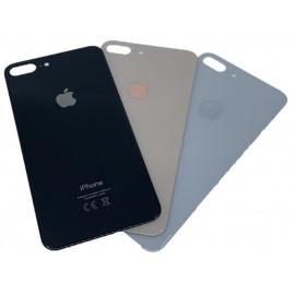 iPhone 8 Plus - Bagside glas med logo og tekst - Original
