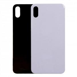 iPhone X - Bagside glas / Bagglas (BIG HOLE Uden Logo)