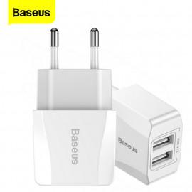 Baseus oplader Mini Dual USB 2 - Port