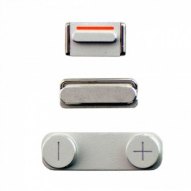 iPhone 5 - Knapsæt - Sølv