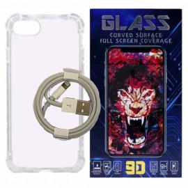 Cover, heldækkende skærmbeskyttelse & Apple lightning kabel