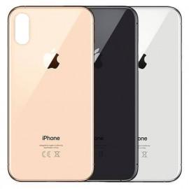 """iPhone XS - """"BIG HOLE"""" Bagside glas med logo og tekst"""