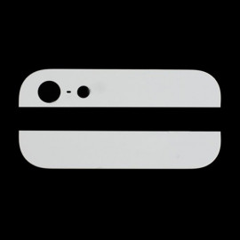 iPhone 5 - Bagglas - Top og bund - Hvid